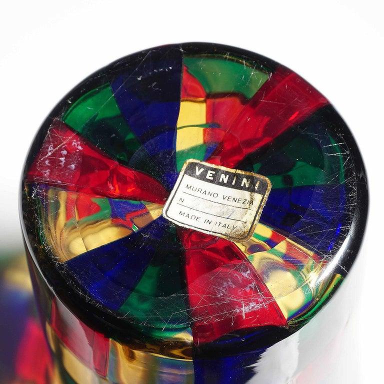 20th Century Fulvio Bianconi Vase Pezzato Parigi, Venini circa 1968 For Sale