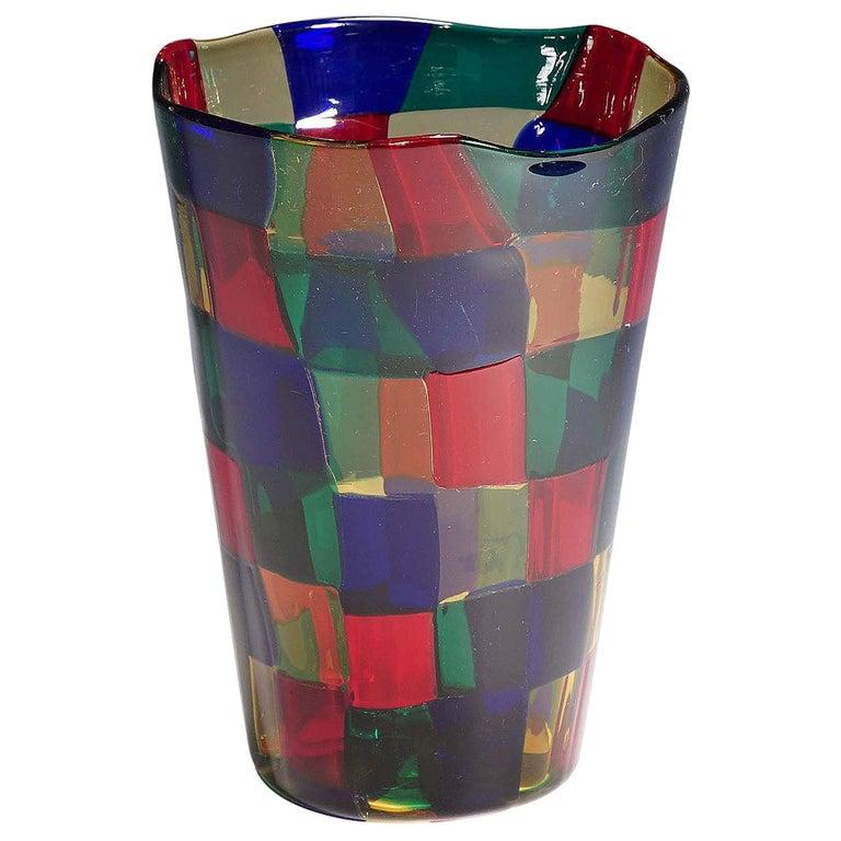 Fulvio Bianconi Vase Pezzato Parigi, Venini circa 1968 For Sale