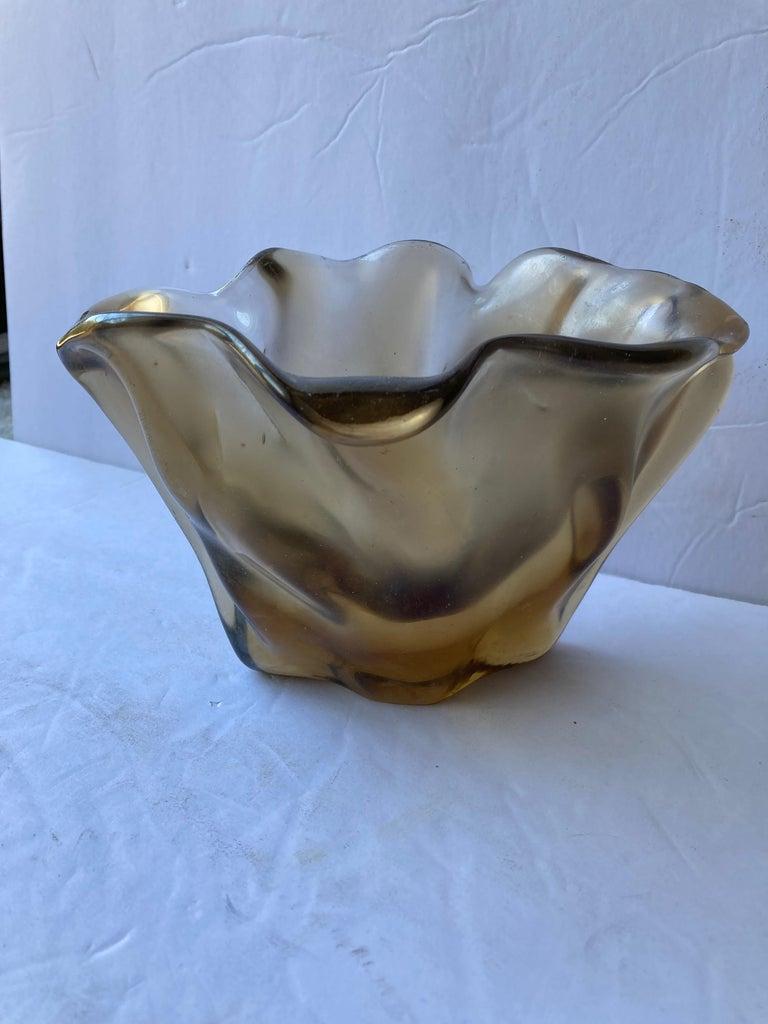 Fulvio Bianconi, Venini Satin Iridescent Murano Glass Vase Rare 4-Line Acid Mark In Good Condition For Sale In Los Angeles, CA