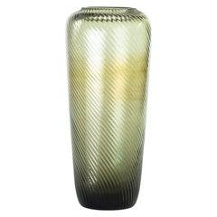 Fumè Glass Vase, Germany, 1960s
