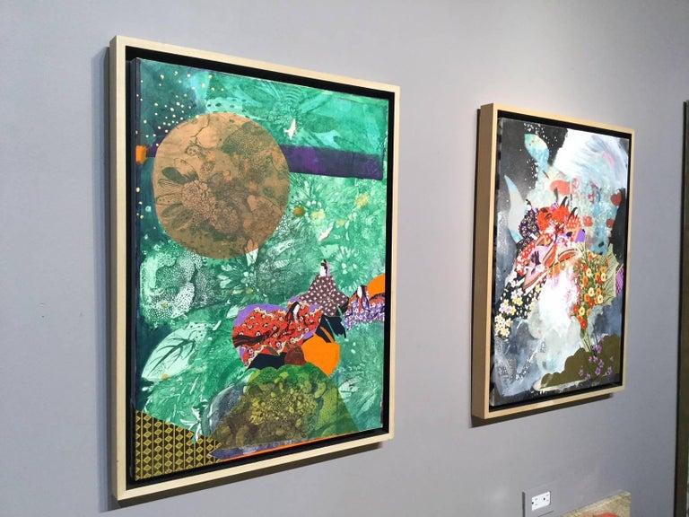 Kaguyahime:Moon - Contemporary Mixed Media Art by Fumiko Toda