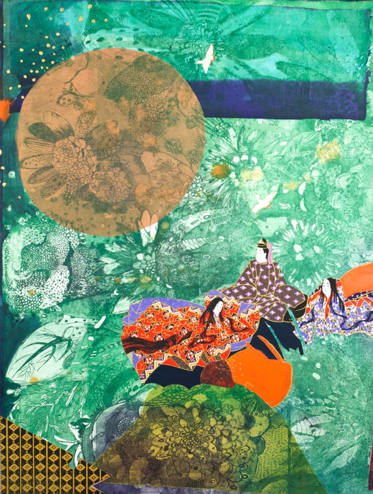 Kaguyahime:Moon - Mixed Media Art by Fumiko Toda