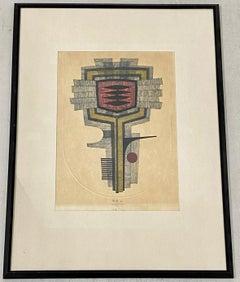 Fumio Fujita (Japan, B.1933) Modern Japanese Woodblock Print C.1972