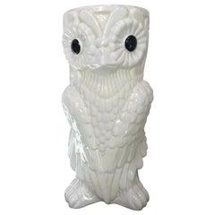 Fun and Bold Vintage Ceramic Owl Umbrella Stand