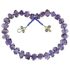 Fun and Funky Chunky Amethyst Necklace