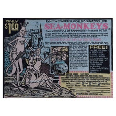 Fun and Games, Sea Monkeys Hand Knotted Carpet in Wool and Silk