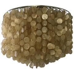 Fun II Lamp by Verner Panton, Denmark, 1964, Capiz Shells and Chrome