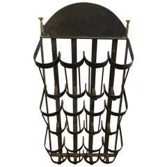 Functional and Totally Awesome Sculptural Iron Wine Rack