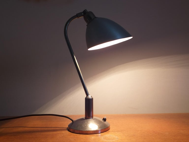 Functionalism Table Lamp Designed by Franta Anyz, Bauhaus, 1930s For Sale 7