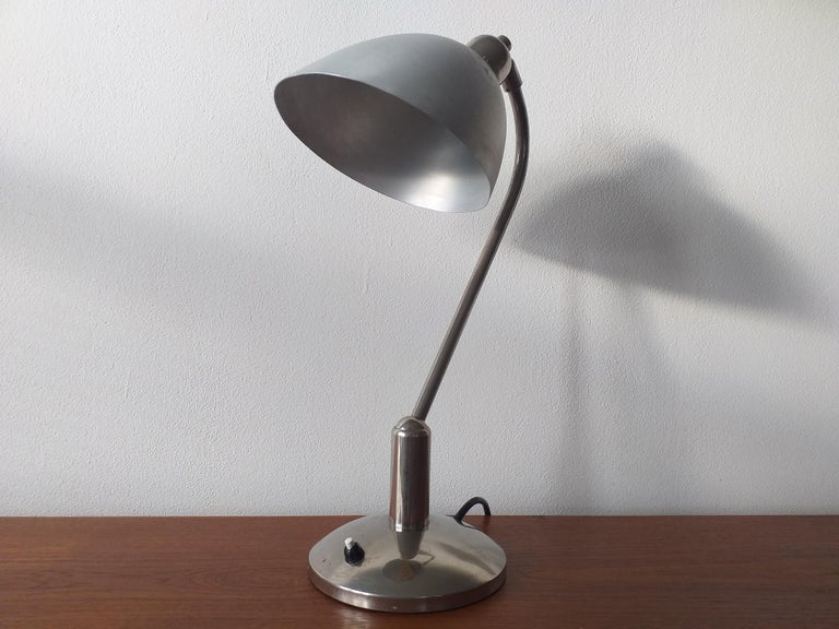 Functionalism Table Lamp Designed by Franta Anyz, Bauhaus, 1930s In Good Condition For Sale In Praha, CZ