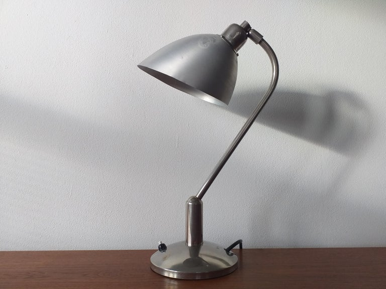 Mid-20th Century Functionalism Table Lamp Designed by Franta Anyz, Bauhaus, 1930s For Sale