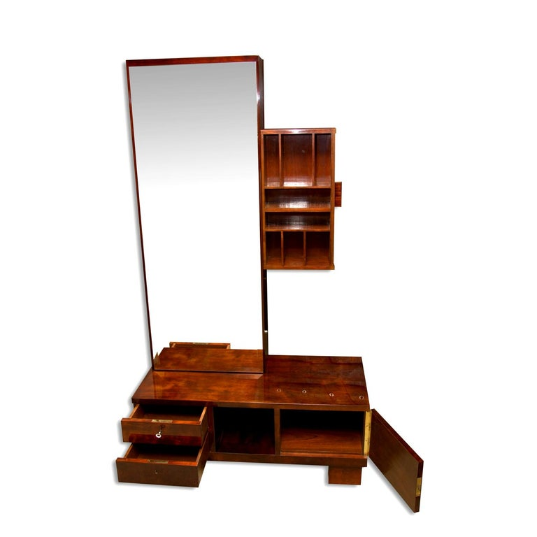 Functionalist Art Deco Vanity, Dressing Table, 1930s, Bohemia For Sale