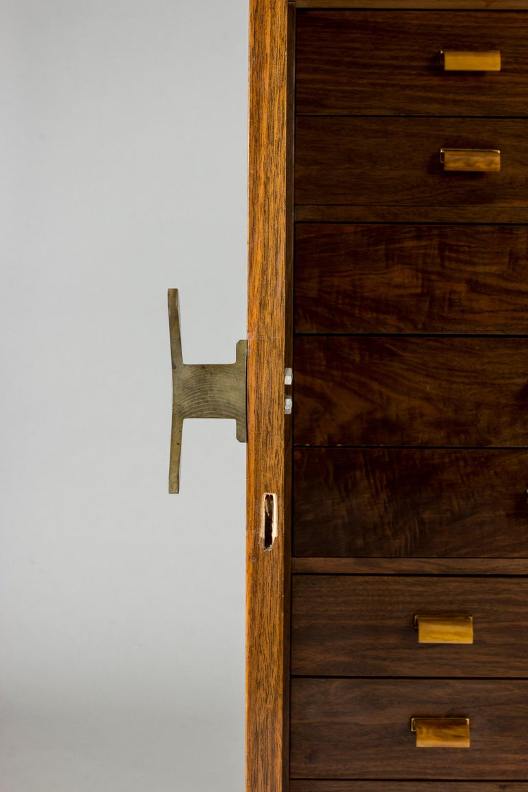 Stained Functionalist Cabinet by Erik Chambert for Chamberts Möbelfabrik, Sweden, 1930s For Sale