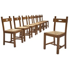 Functionalist Chairs in Oak and Cord