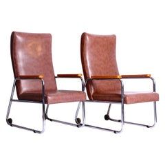 Functionalist Chrome Armchairs