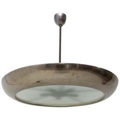 Functionalist Copper Pendant UFO Designed by Josef Hurka, Czechoslovakia, 1940s