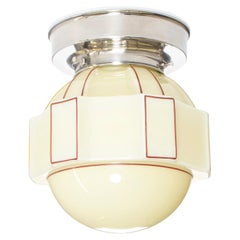 Functionalist Flush Mount Ceiling Light, 1950s