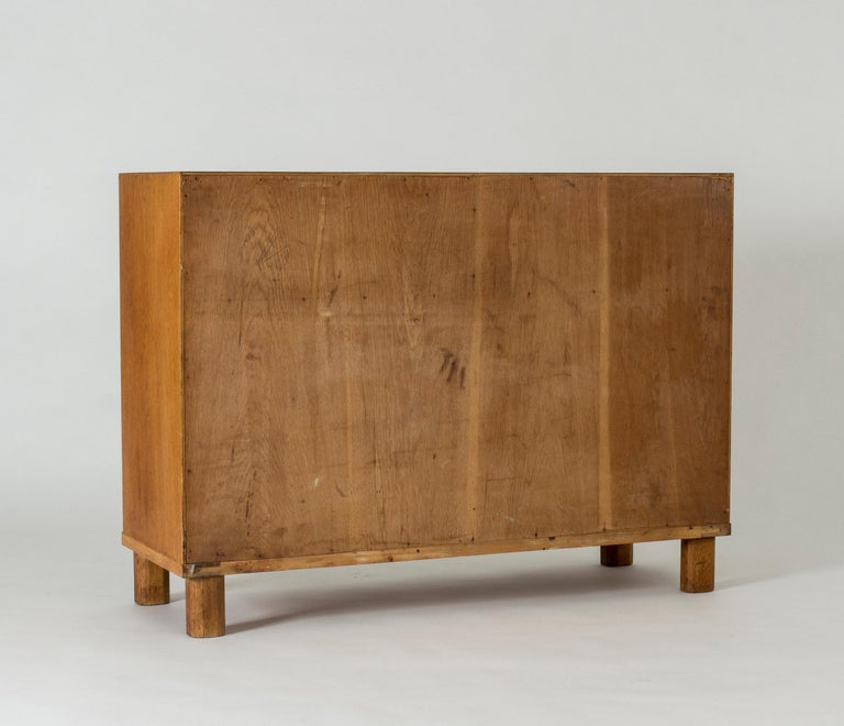 Functionalist Oak Sideboard by Axel Larsson In Good Condition For Sale In Stockholm, SE