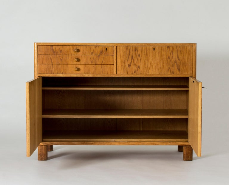 Mid-20th Century Functionalist Oak Sideboard by Axel Larsson For Sale