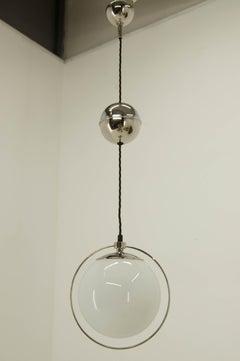 Functionalist or Bauhaus Height Adjustable Pendant, 1930s