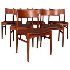 Funder-Schmidt & Madsen, Six Dining Chairs, Teak, 1960s