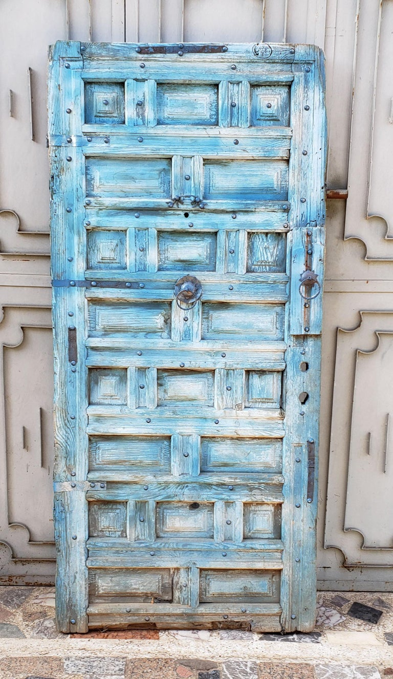 Another amazing single panel Moroccan door measuring approximately 68
