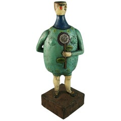 Funky Englishman Figurative Folk Art Sculpture