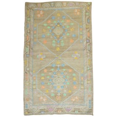 Funky Kars Turkish 20th Century Wool Cotton Odd Size Large Scale Geometric Rug