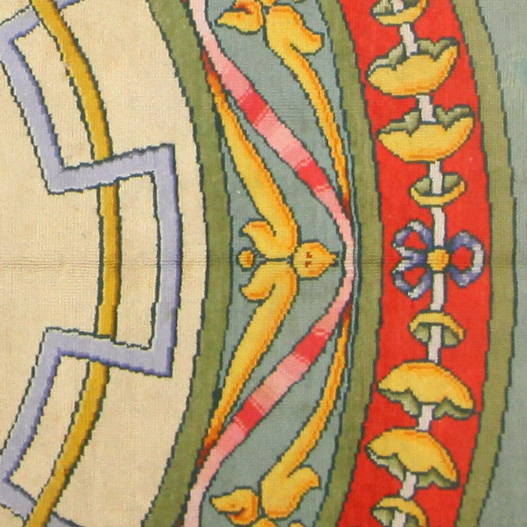 Hand-Knotted Funky Oversized Spanish Art Deco Carpet. Size: 20 ft 4 in x 28 ft 2 in For Sale