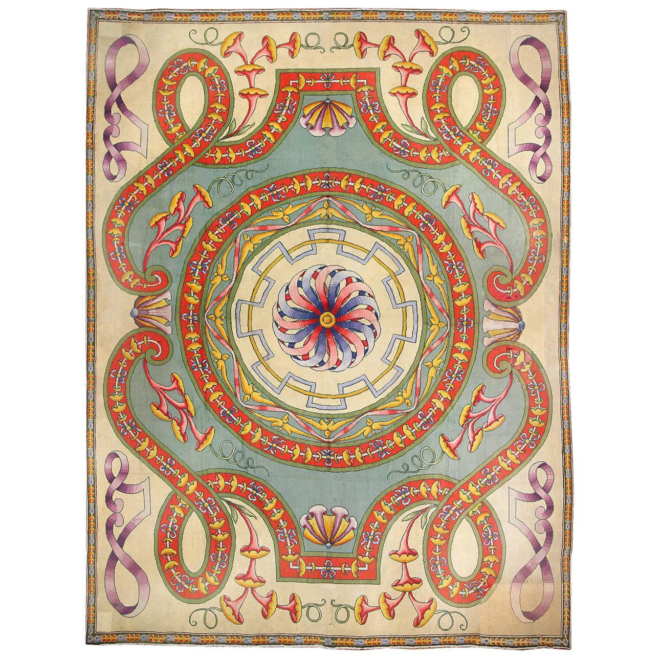 Funky Oversized Spanish Art Deco Carpet. Size: 20 ft 4 in x 28 ft 2 in