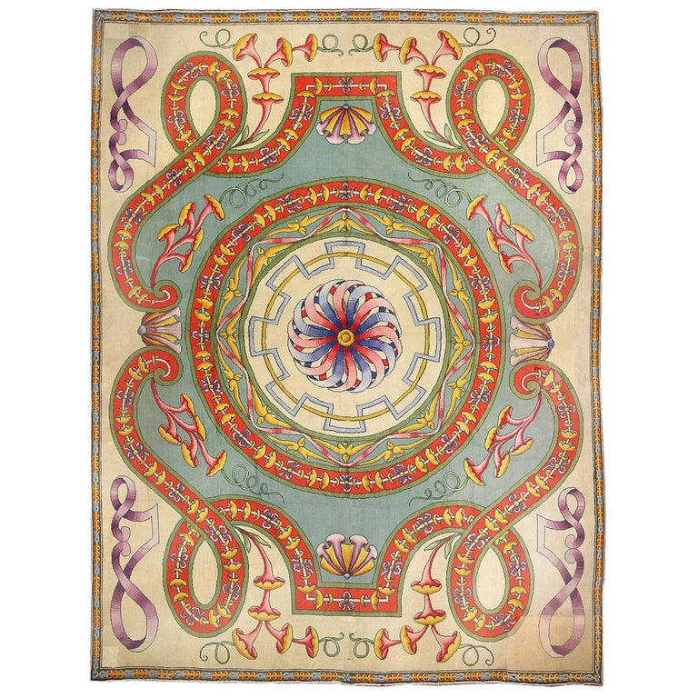 Funky Oversized Spanish Art Deco Carpet. Size: 20 ft 4 in x 28 ft 2 in For Sale