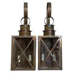 Funky Pair of Solid Copper Wall Lantern