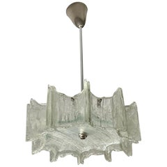 Funky Texture Glass Vintage Chandelier