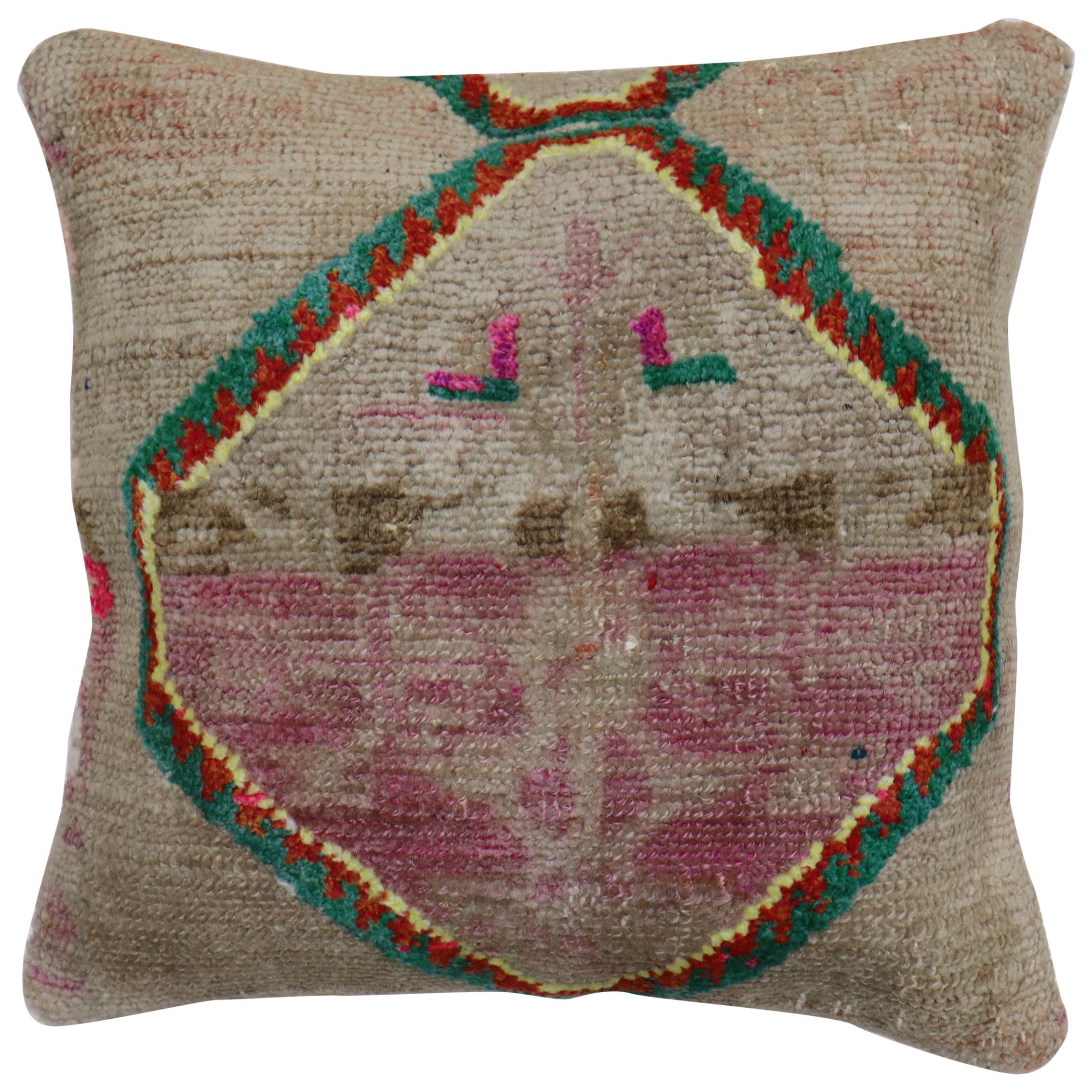 Funky Turkish Medallion Rug Pillow