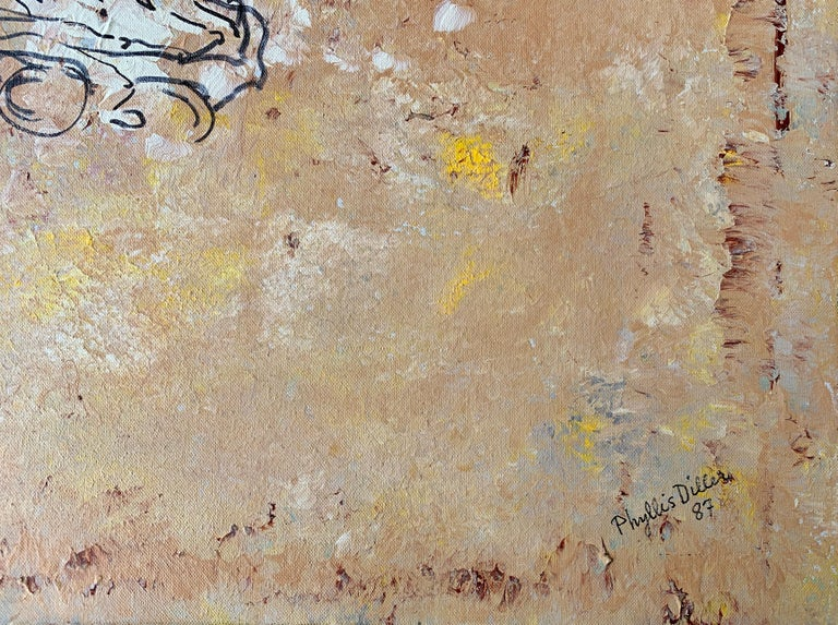 Funny Comedienne Phyllis Diller Original Oil Painting on Canvas with 2 Titles For Sale 3
