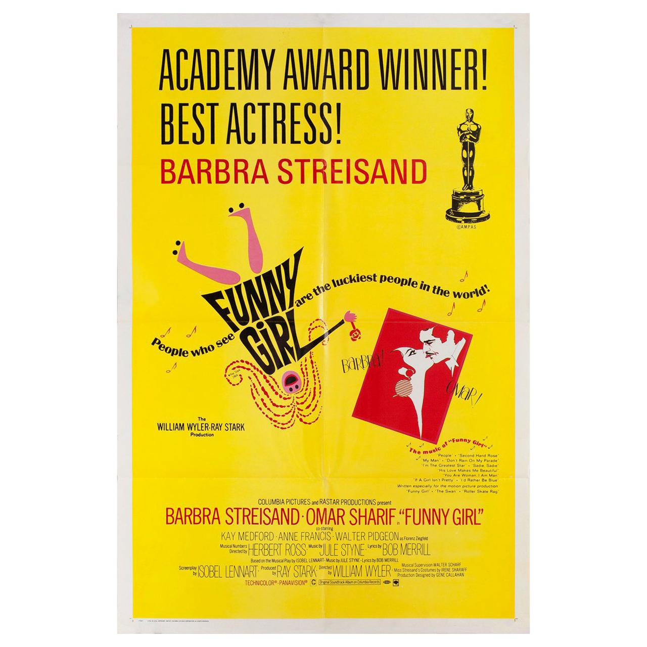 Funny Girl 1969 U.S. One Sheet Film Poster