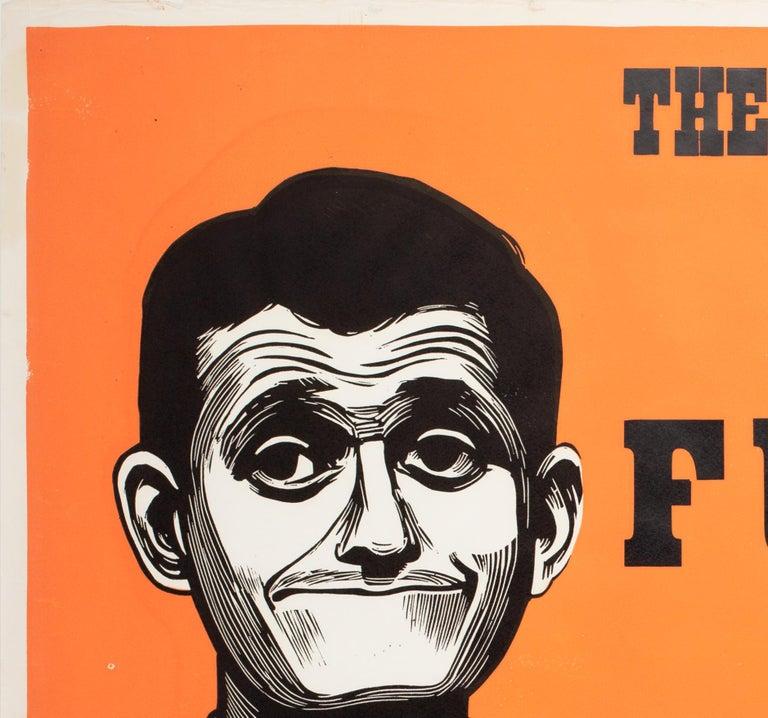 British Funnyman 1968 Academy Cinema UK Quad Film Poster, Strausfeld For Sale