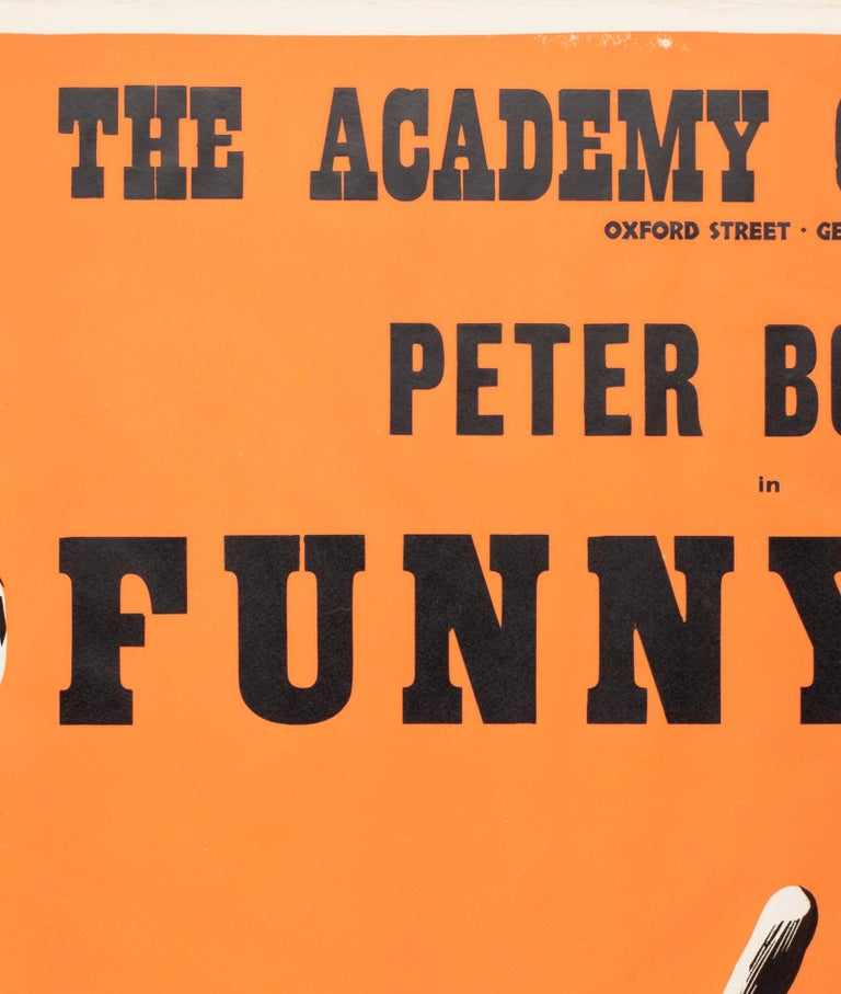 Funnyman 1968 Academy Cinema UK Quad Film Poster, Strausfeld In Good Condition For Sale In Bath, Somerset
