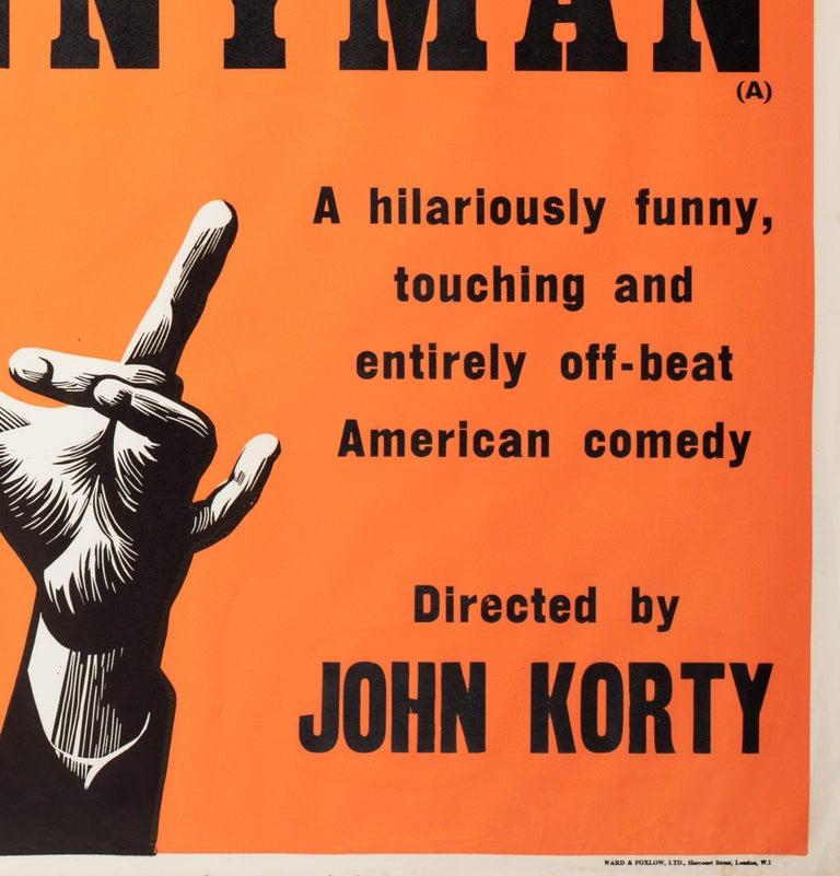 Paper Funnyman 1968 Academy Cinema UK Quad Film Poster, Strausfeld For Sale