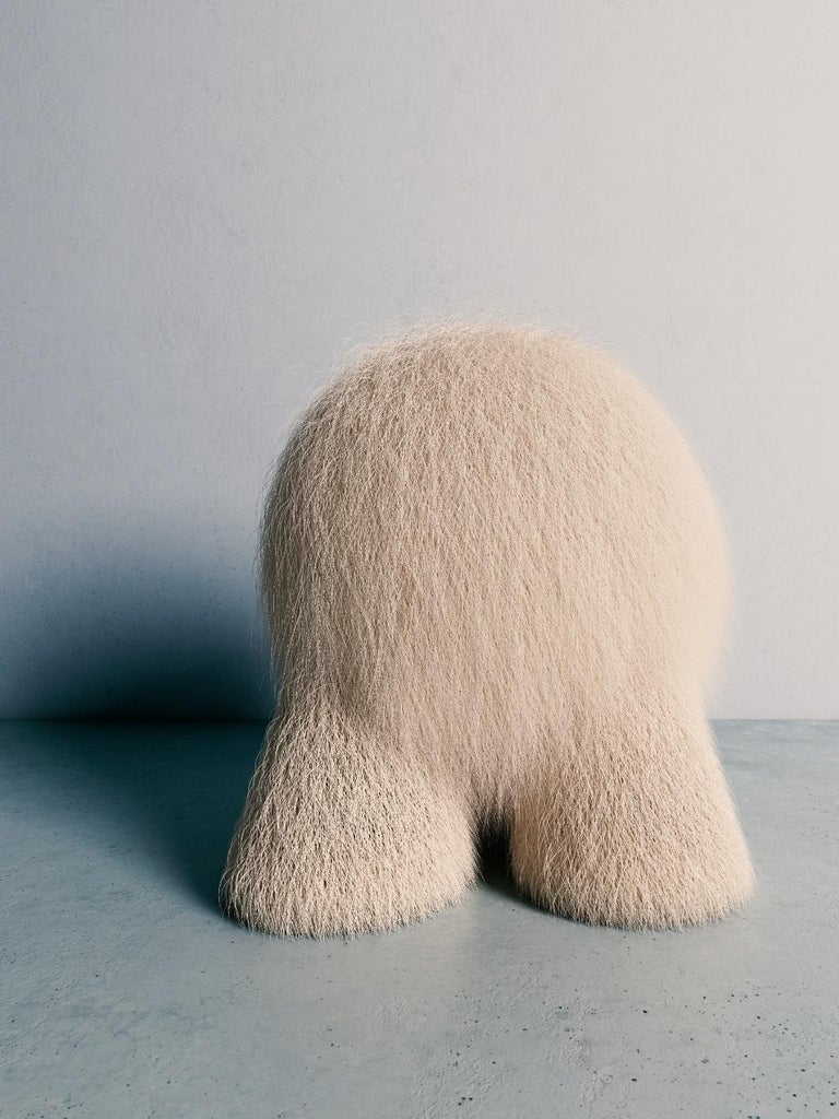 Fur Atlas stool by Pietro Franceschini Sold exclusively by Galerie Philia Manufacturer: Stefano Minotti Dimensions: W 49 x H 52 cm Materials: Fur Available materials: Lamb/bouclé, gold leaf/cast brass  Pietro Franceschini is an architect and