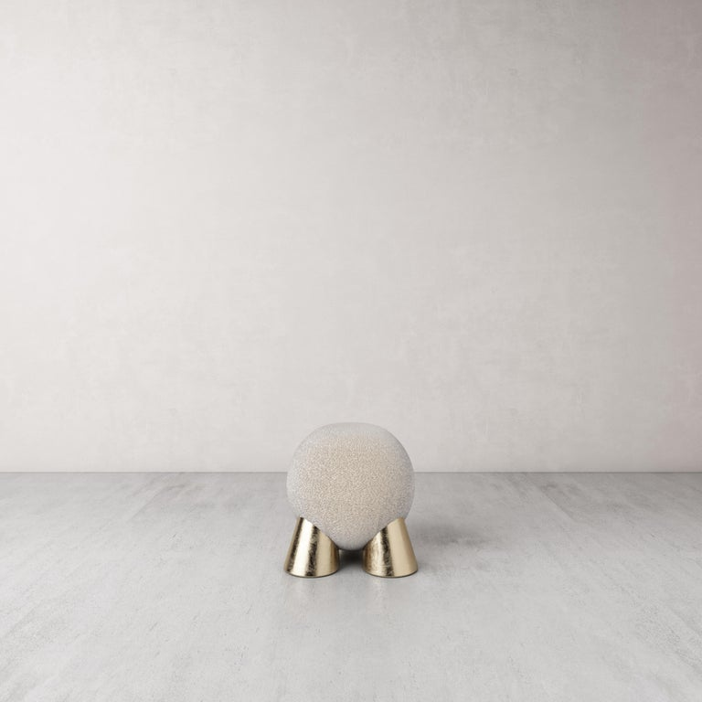 Fur Atlas Stool by Pietro Franceschini In New Condition For Sale In Geneve, CH