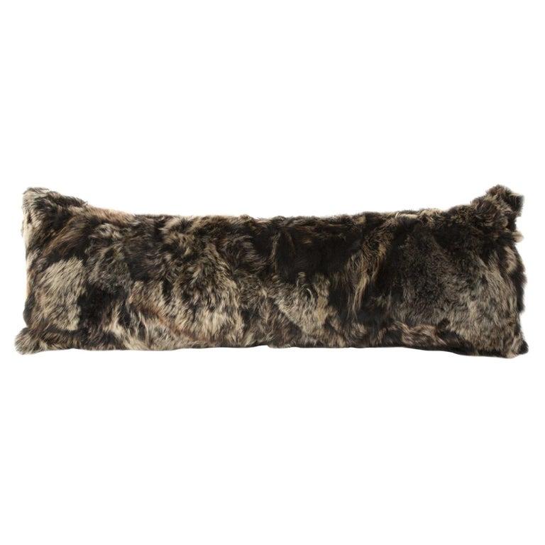 Fur Body Pillow, Truffle, Real Toscana Sheep Fur For Sale