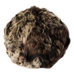 Fur Snowball Pillow - Truffle