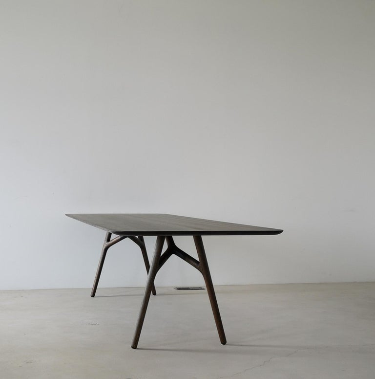 Canadian Furcula Modern Solid Wood Dining Table by Izm Design For Sale