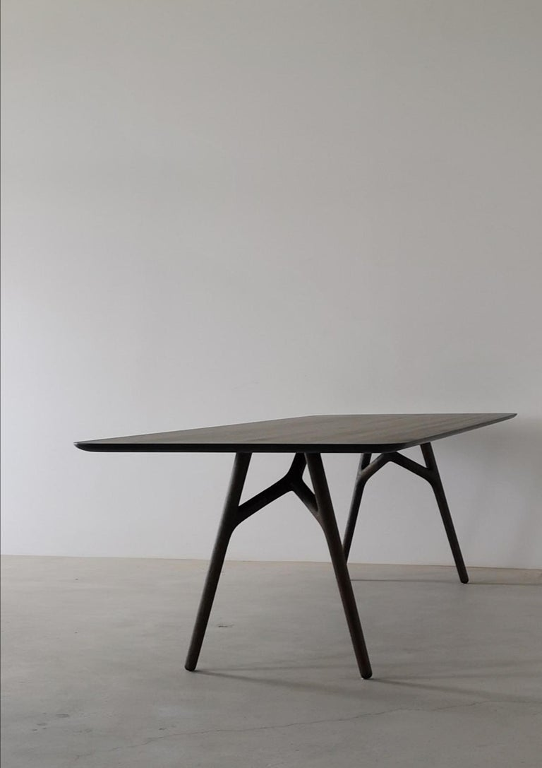 Contemporary Furcula Modern Solid Wood Dining Table by Izm Design For Sale