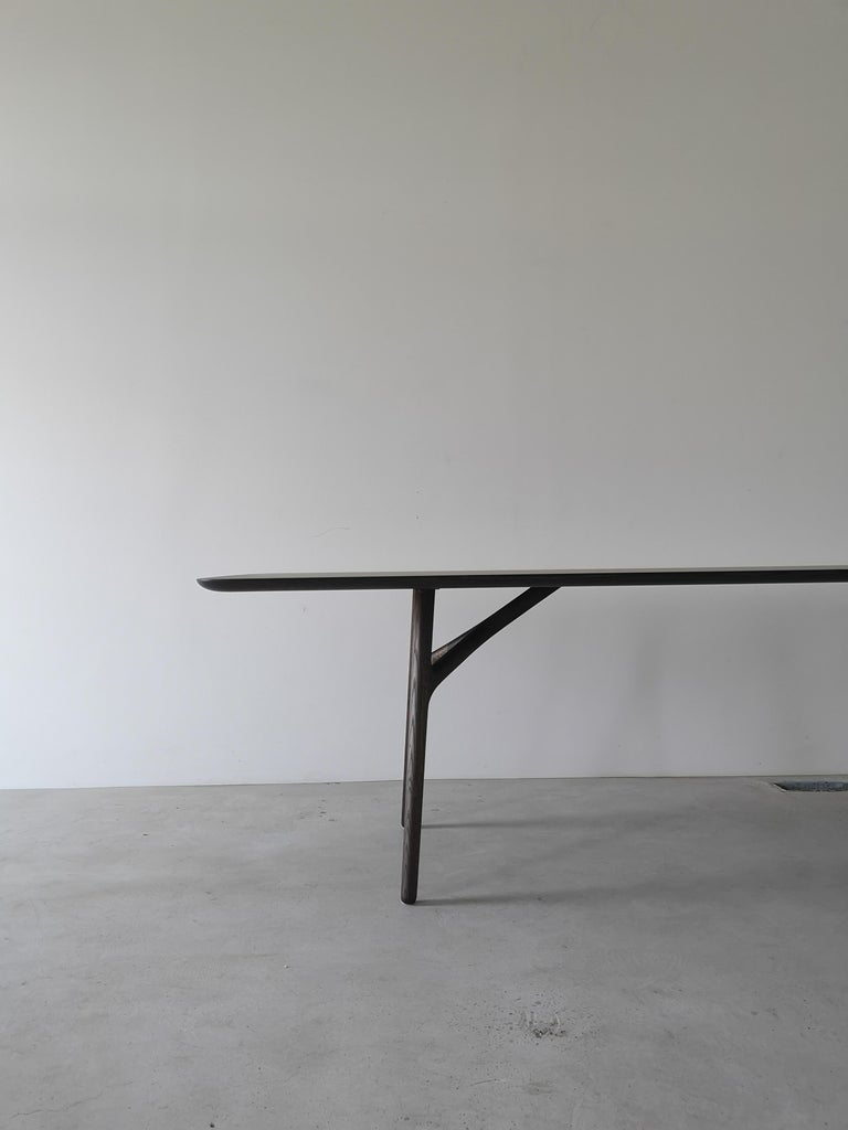 Furcula Modern Solid Wood Dining Table by Izm Design For Sale 1