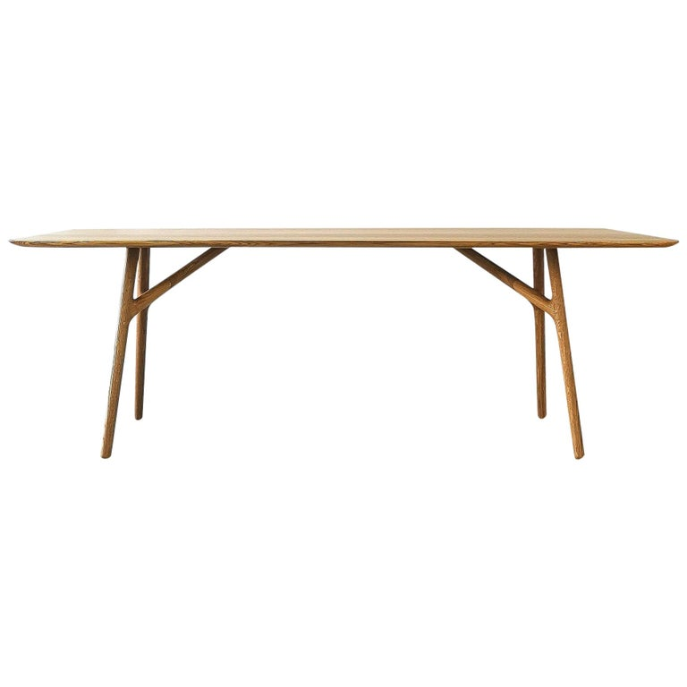 Furcula Modern Solid Wood Dining Table by Izm Design For Sale