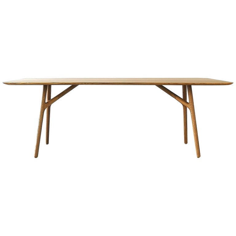 Furcula Modern Solid Wood Dining Table by Izm For Sale