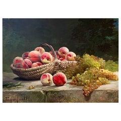 "Furcy de Lavault Albert ""Still life with peaches"""