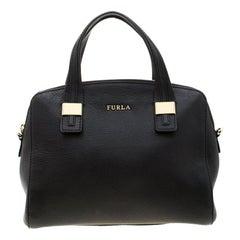Furla Black Leather Satchel